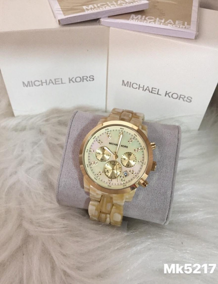 Relógio Lp90 Michael Kors Mk5217 Madreperola Luxo Oferta Top