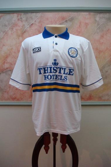 Camisa Futebol Leeds United Inglaterra Asics Antiga 574