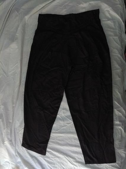 Pantalon Negro Babucha Caido De Vestir Negro Talle L Rock
