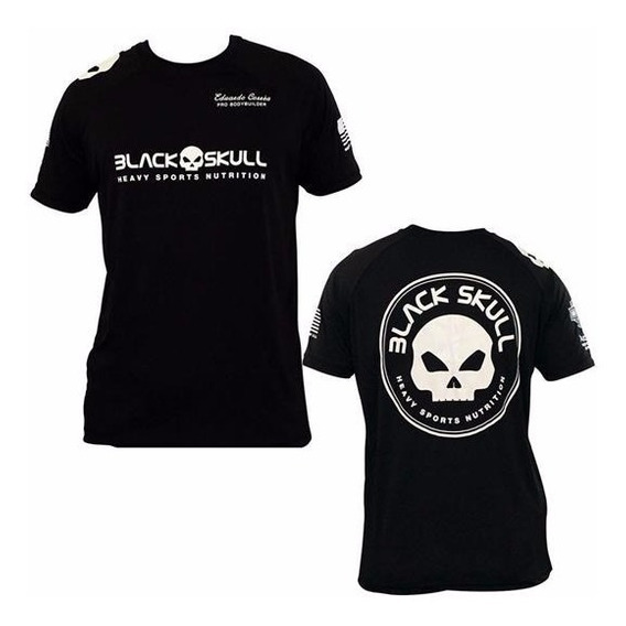 Kit Camiseta Original + Coqueteleira - Black Skull
