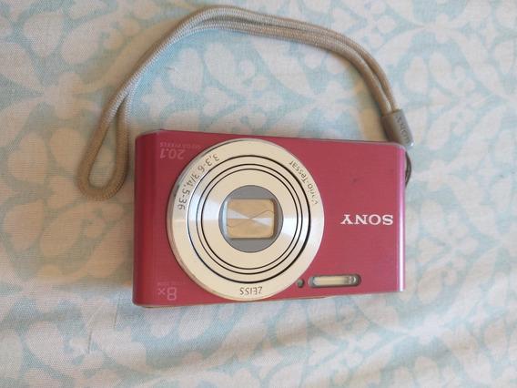 Câmera Digital Sony - Modelo Dsc-w830 Rosa