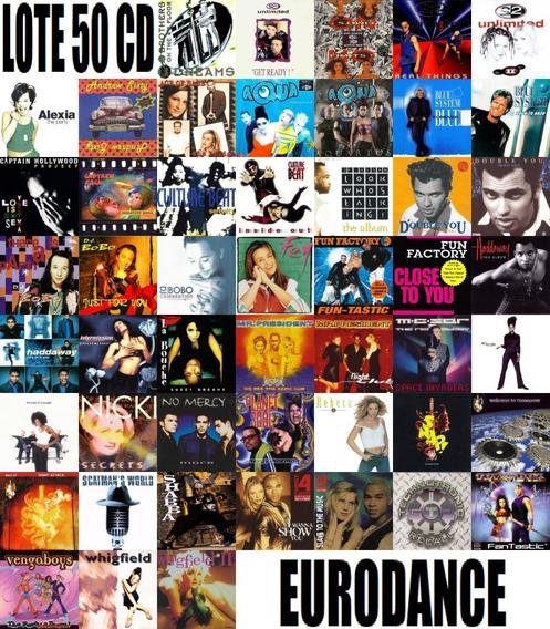 Lote Com 50 Cd Álbuns Eurodance Anos 90
