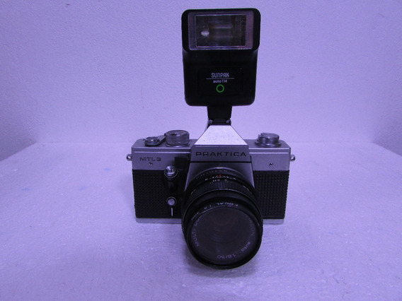 Maquina Fotografica Analogica Praktica Mtl3+flash Sunpak