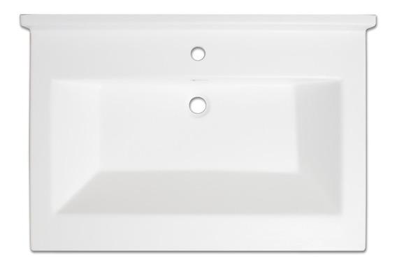 Lavabo Carolina 22x31 Pulgadas Con Respaldo 3b, Color Blanco