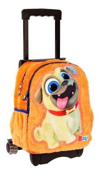 Mochila Kinder Carrito Ruedas Puppy Dog Pals 7348-1c