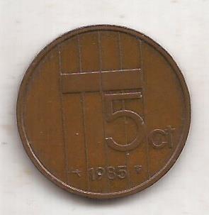 Holanda Moneda De 5 Cents Año 1985 !!