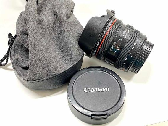 Objetiva Canon Ef 8-15mm F4 L Usm