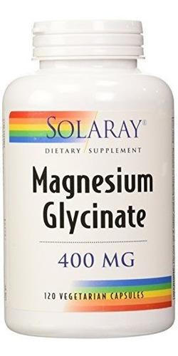 Glicinato De Magnesio Magnesium Glycinate 400mg 120 Cap