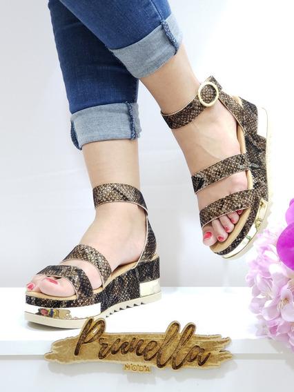 Sandalias Dama Zapatillas Mujer Tacon Casuales 124 /z