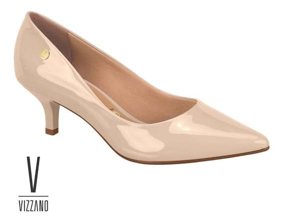 Sapato Scarpin Feminino Vizzano Salto Baixo Verniz 1122628
