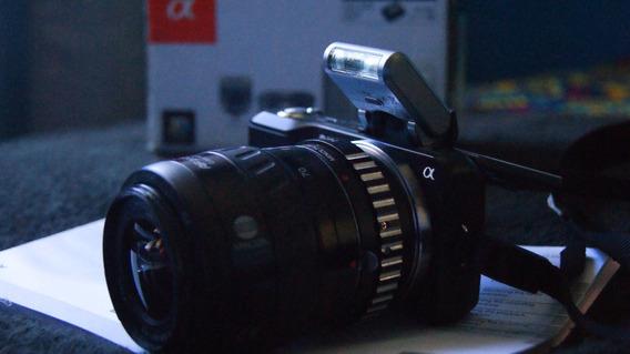 Camera Sony Nex3 + Lente 35-70mm + Adaptador Minolta/nex