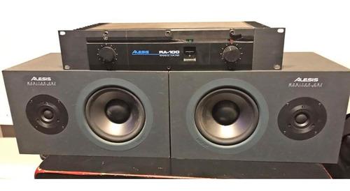 Potencia Alesis Ra100 Y Monitores Alesis Monitor One
