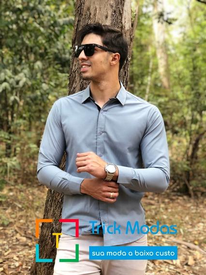 Camisas Social Masculina Slim - Promoção - Pp Ao Plus Size