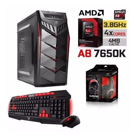 Cpu Gamer A8 7650k+ Kit Gamer Promocao