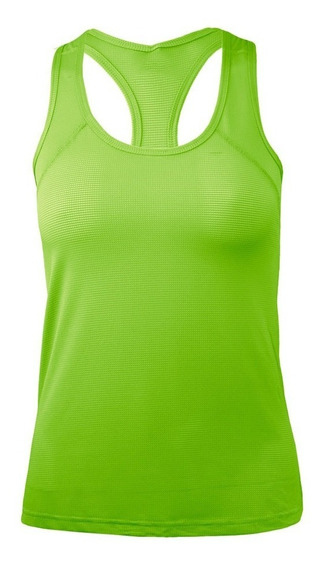 Camiseta Musculosa Dryfit Deportiva Calce Ajustado Mujer