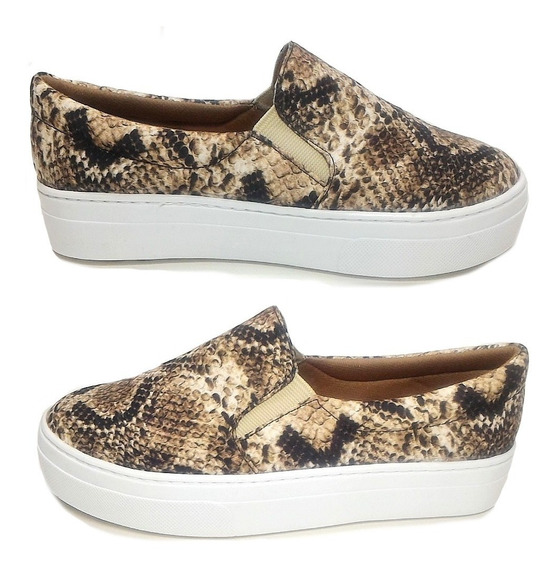 Tenis Feminino Slip On Sapatlha Animal Print Cobra