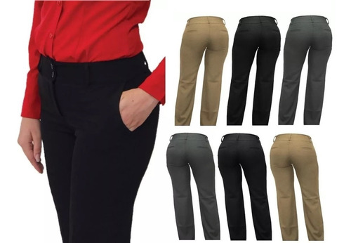 Pantalon Color Caqui Mujer Ropa Bolsas Y Calzado En Mercado Libre Mexico