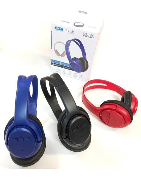 Kit C/ 10 Headfone Bluetooth Rádio Fm Entr Sd Fone De Ouvido