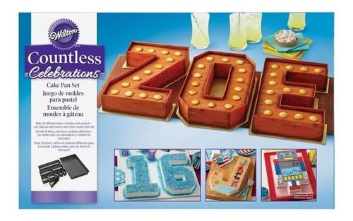 Imagen 1 de 9 de Moldes Para Torta Letras Números Letter Cake Wilton Titanweb