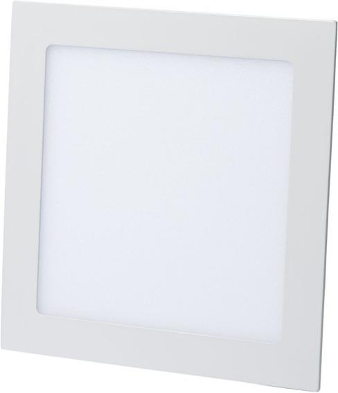 6 Un - Luminária Plafon Led 15w Embutir Redonda / Quadrada