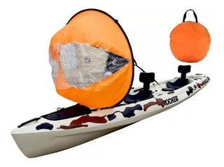 Vela Kayak Sail 118 Cm Bolso Canoa Kayak Tabla Sup Inflable