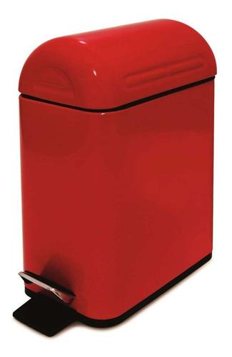 Lixeira Com Pedal Trash 5 Litros Vermelha - Semi-nova