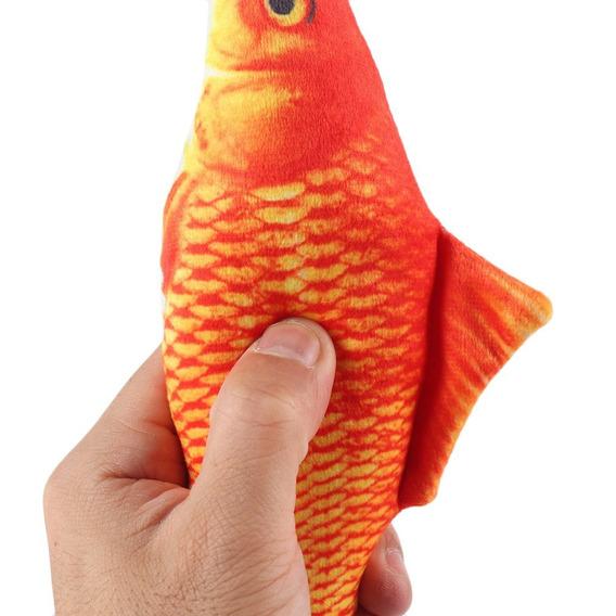 Pelúcia Forma Peixe 3d Brinquedo Gato Simulação Peixe Jog