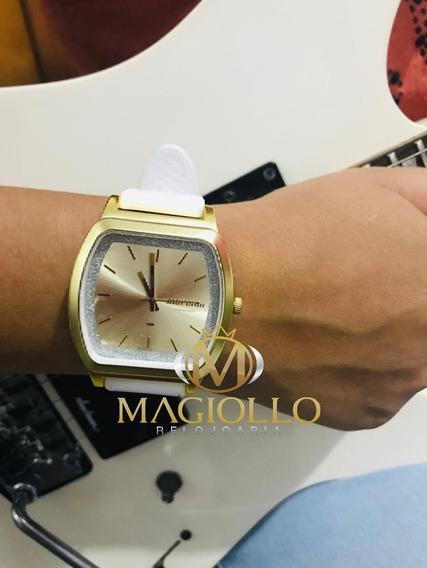 Relógio Mormaii Feminino Mo2036ey/8a Dourado Branco