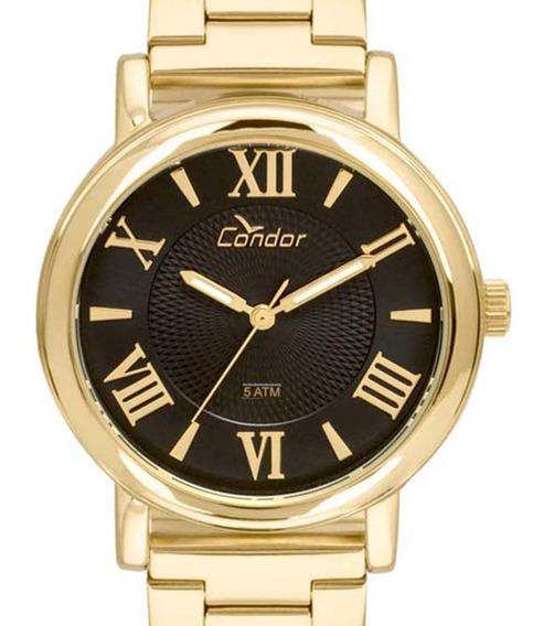 Relógio Condor Feminino Dourado Coal2036ch/k4p Original + Nfe