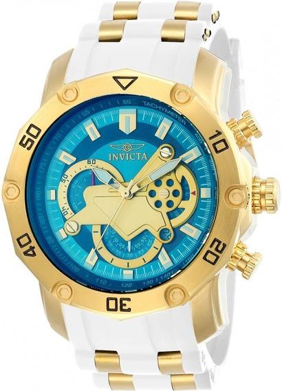 Relógio Invicta 23423 Dourado Aço Inox Dial Azul * Pro Diver