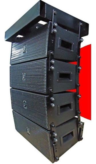 Conjunto Com 4 Line Array Profissional Eco Som Lx206 Passiva