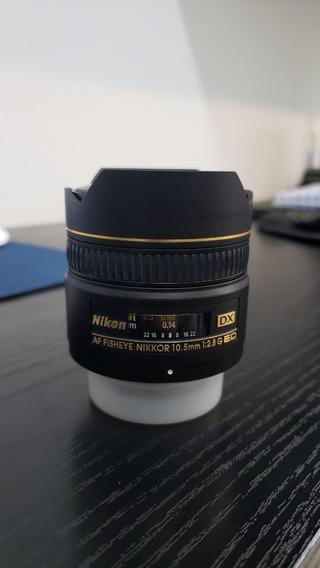 Lente Nikon - Af Fisheye Nikkor 10.5mm F/2.8 Dx G Ed- Zerada