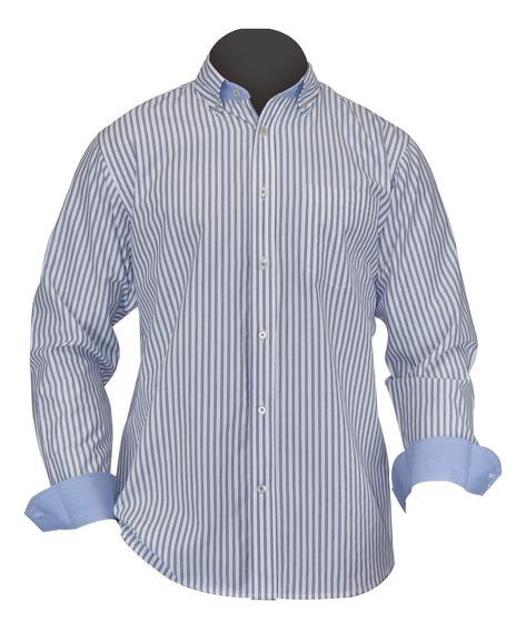Camisa De Vestir Caballero Manga Larga, Moderna, Algodon