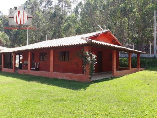 Chácara Arborizada Com Riacho, Ótimo Bairro, 02 Dormitórios À Venda, 2000 M² Por R$ 280.000 - Pedra Bela/sp - Ch0046