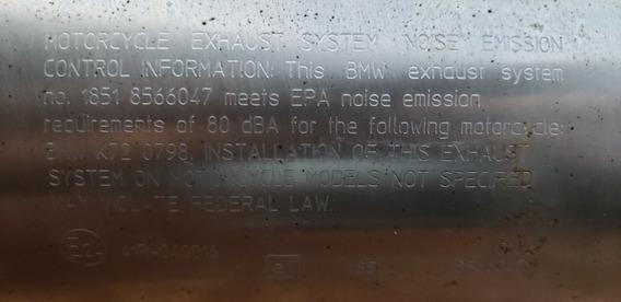 Ponteira De Escapamento Bmw Gs F700