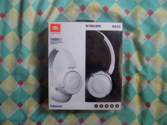 Headphone Wireless T450bt Jbl Harman Cor Branca