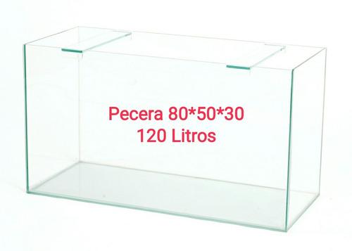 Pecera 80 X 50 X 30 120 Litros. Acuario Aquariumba