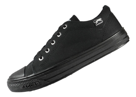 Zapatillas Jaguar Lona Negra 34 Al 45