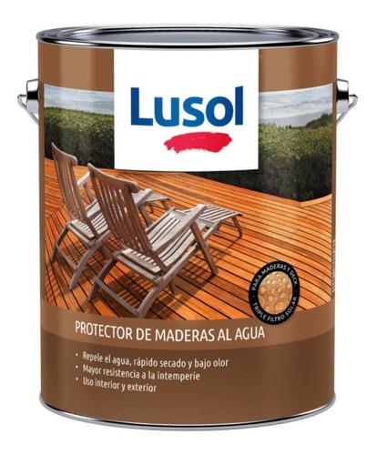 Imagen 1 de 3 de Protector Para Madera Lusol Al Agua Varios Colores 4 Litros