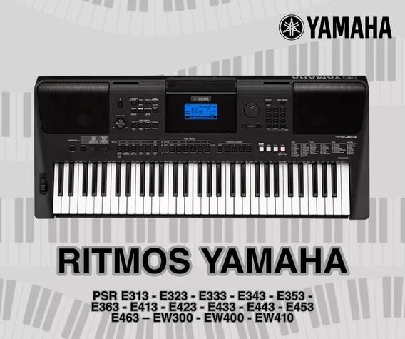 Ritmos Yamaha Psr E333, E413, E423, E433, E443, E453, E463