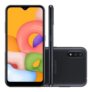 Celular Samsung A01 32gb Dual Sim Preto