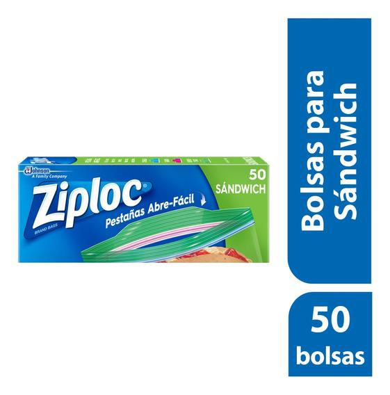 Ziploc Bolsas Para Sandwich 50 Bolsas