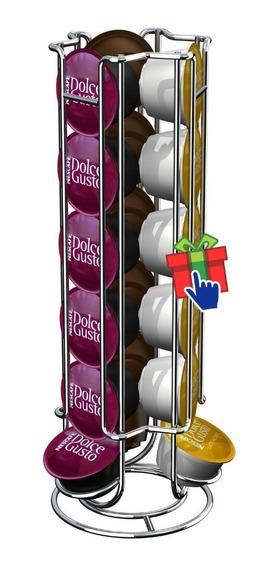 Porta Capsulas Nescafe Dolce Gusto 18 Acero Cromado