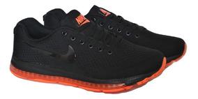 Kp3 Zapatos Caballeros Nike Air Zoom J Negro Naranja