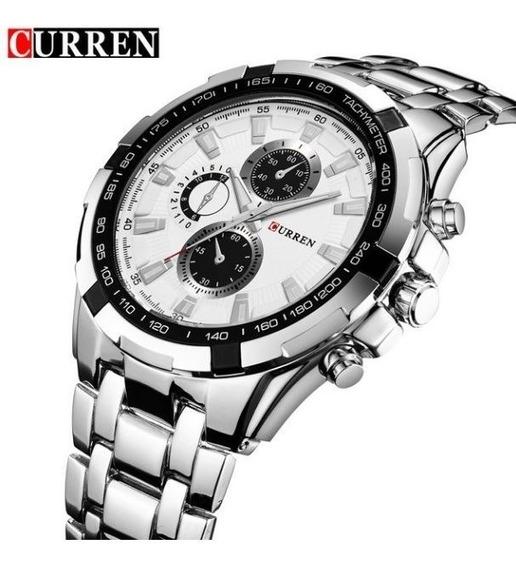 Relógio Pulseira Aço Inox Curren A Prova D