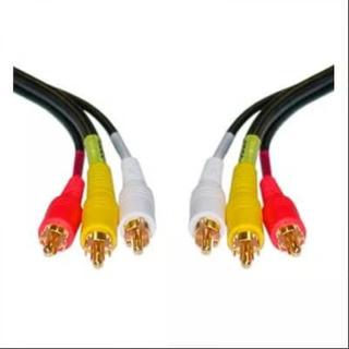 Cable 3 Rca A Rca Netmak Nm-c33 3mts