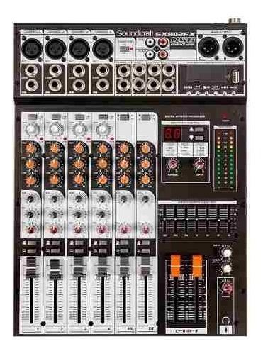 Mesa De Som Soundcraft Sx 802 Usb Melhor Q Behringer 802