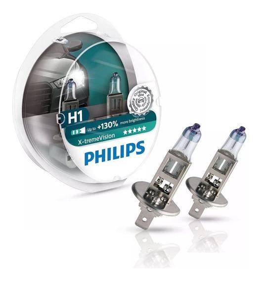 Lampada Philips X-treme Vision H1 Par Até + 130% Brilho 12 V
