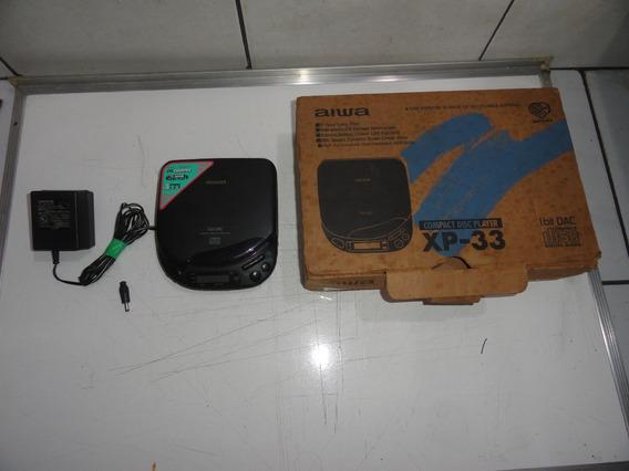 Discman Aiwa Xp-33 Na Caixa Walkman Coleção Defeito