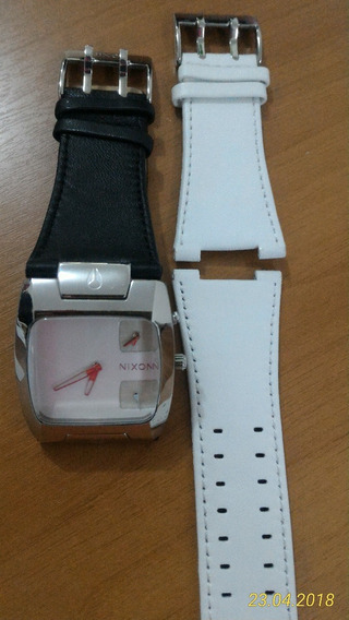 Nixon The Banks Leather White/black Novo